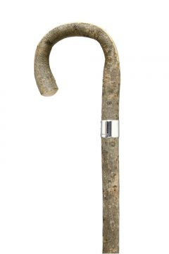 GCWS-Bark Ash Peeled Crook-SLB-Handle
