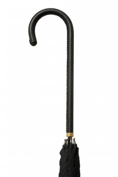LTU-Walking-Leather Crook-BLK-Handle