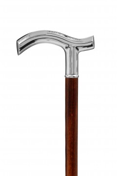 GDWS-Nickel Crutch-Black-Handle