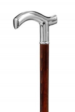 GDWS-Nickel Crutch-Brown-Handle Angle