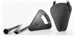 Folding Flipstick and Shoulder Bag Black