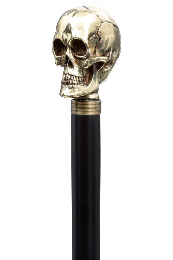 GDECWS-Gilt Plated Skull-Handle Angle