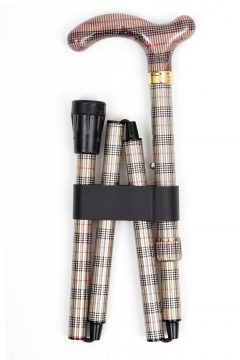 LFWS-Tan,Black,white and Red Plaid-Folded