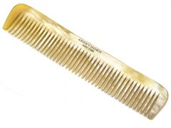 C23 – Dress Comb – Broad Tooth – Oxhorn